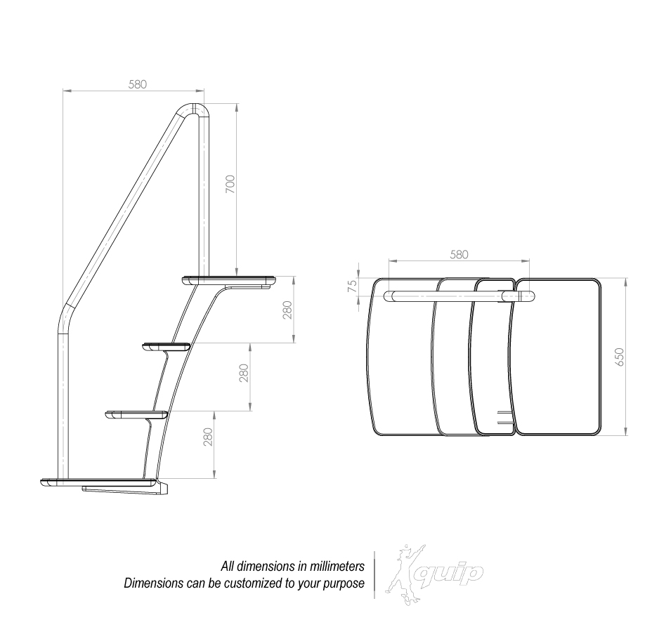 Drawing with overall dimensions
